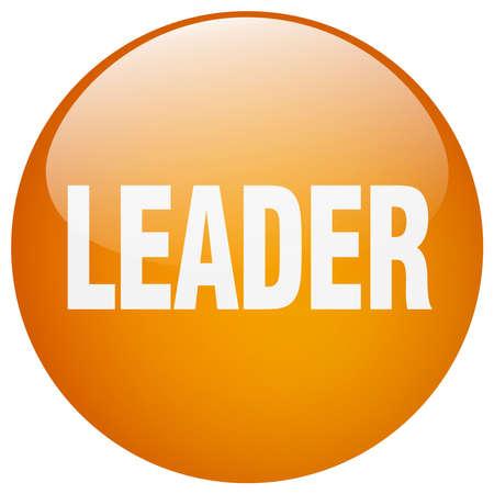 gel: leader orange round gel isolated push button