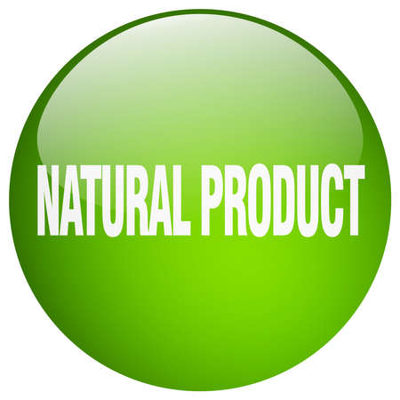 natural product: natural product green round gel isolated push button Illustration