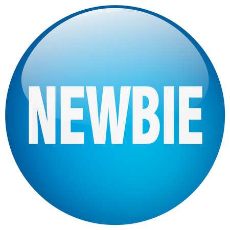 newbie: newbie blue round gel isolated push button