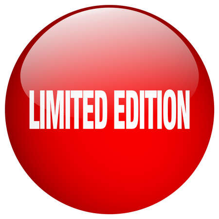 edition: limited edition red round gel isolated push button
