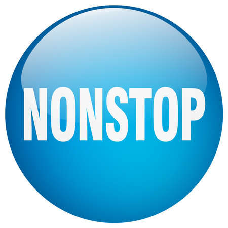nonstop: nonstop blue round gel isolated push button