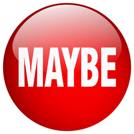 maybe: maybe red round gel isolated push button