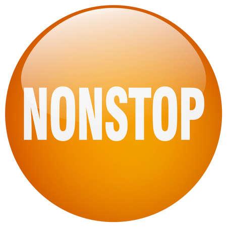 nonstop: nonstop orange round gel isolated push button