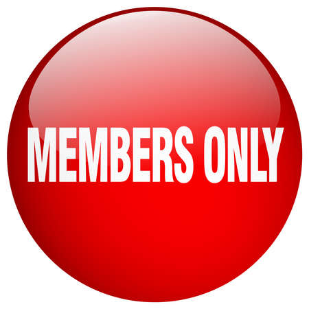 members only: members only red round gel isolated push button