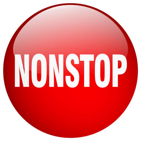 nonstop: nonstop red round gel isolated push button Illustration