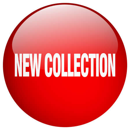 new collection: new collection red round gel isolated push button