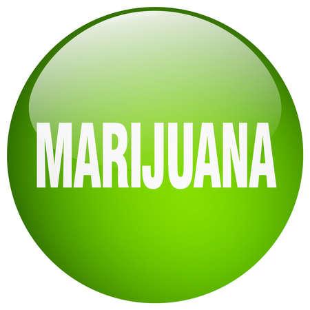 gel: marijuana green round gel isolated push button Illustration
