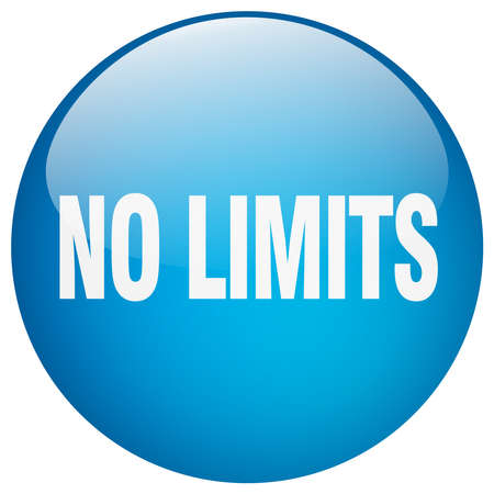 limits: no limits blue round gel isolated push button