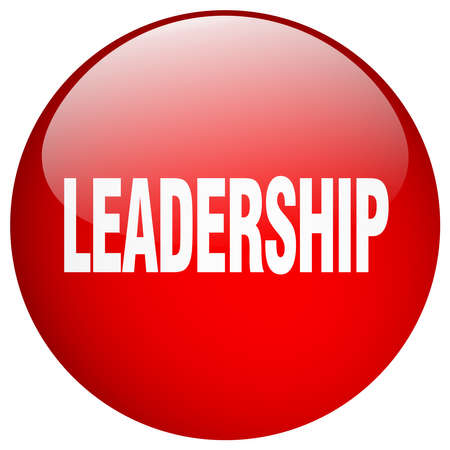 gel: leadership red round gel isolated push button Illustration