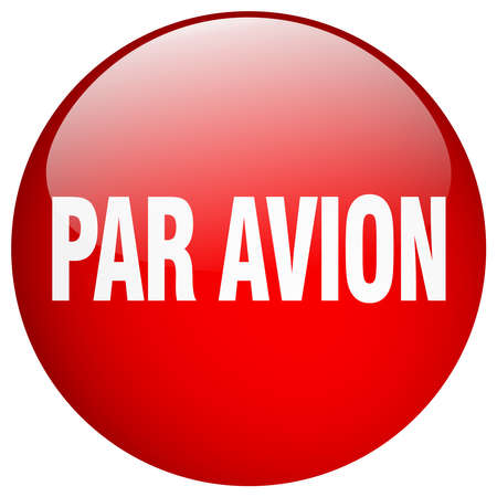 par: par avion red round gel isolated push button Illustration