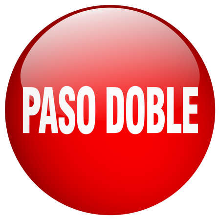 paso doble: paso doble red round gel isolated push button