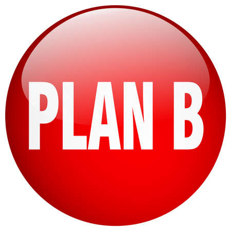 plan b: plan b red round gel isolated push button Illustration