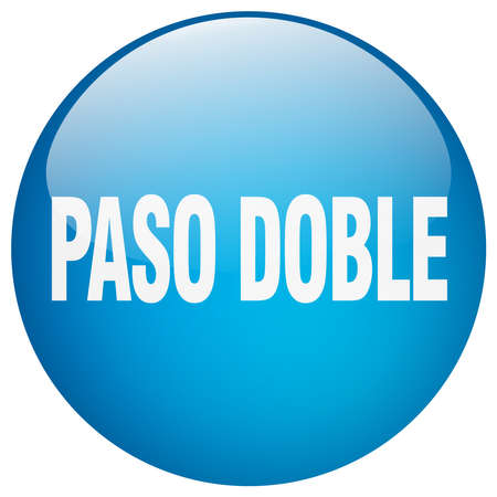 paso doble: paso doble blue round gel isolated push button