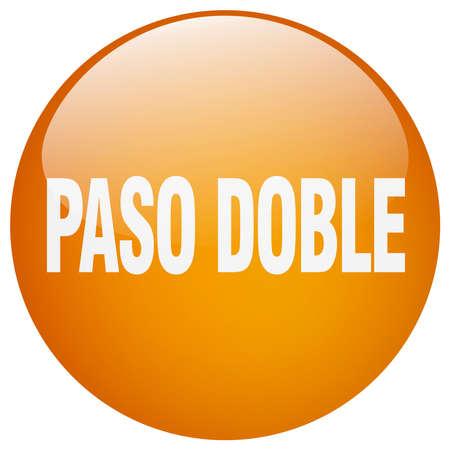paso doble: paso doble orange round gel isolated push button