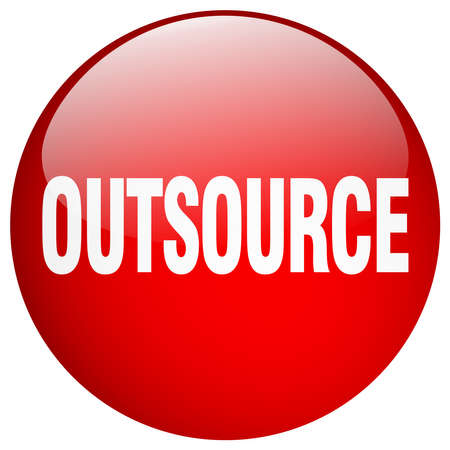 outsource: outsource red round gel isolated push button