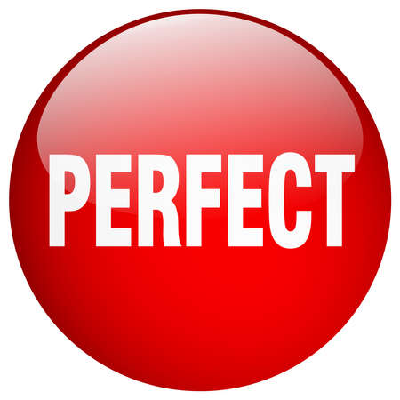 perfect: perfect red round gel isolated push button