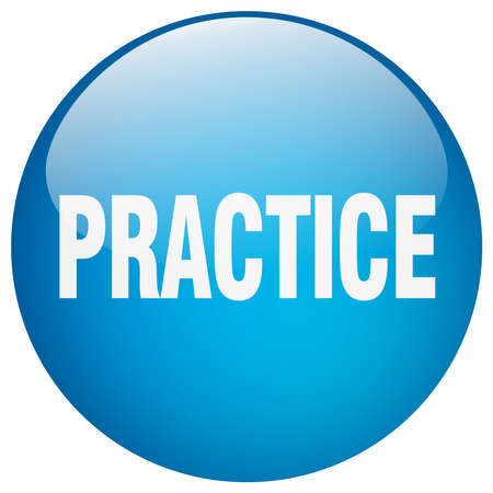practice: practice blue round gel isolated push button