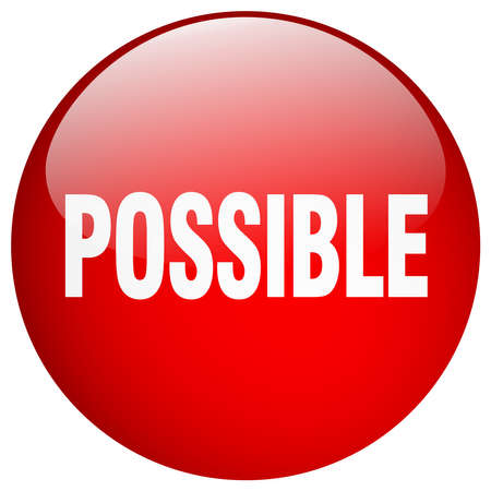 possible: possible red round gel isolated push button Illustration