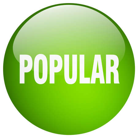 popular: popular green round gel isolated push button