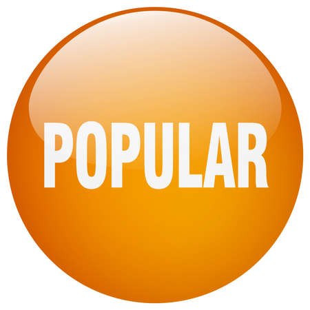 popular: popular orange round gel isolated push button