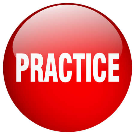 practice: practice red round gel isolated push button