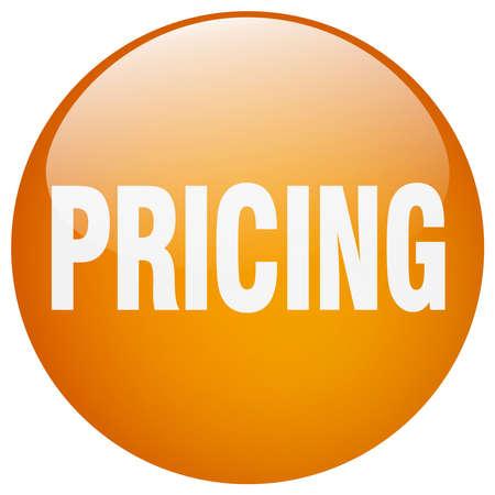 gel: pricing orange round gel isolated push button