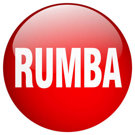 rumba: rumba red round gel isolated push button
