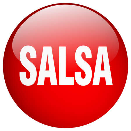 push button: salsa red round gel isolated push button