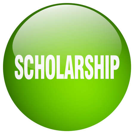 scholarship: scholarship green round gel isolated push button