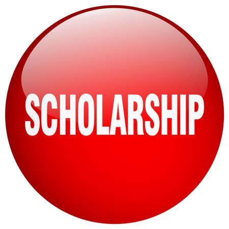 scholarship: scholarship red round gel isolated push button