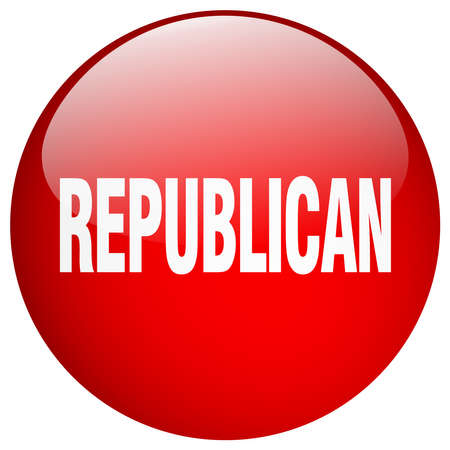 republican: republican red round gel isolated push button