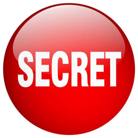 gel: secret red round gel isolated push button