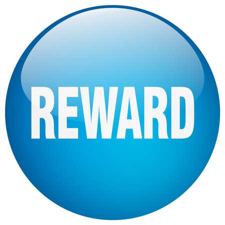 gel: reward blue round gel isolated push button