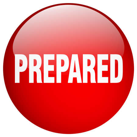 prepared: prepared red round gel isolated push button