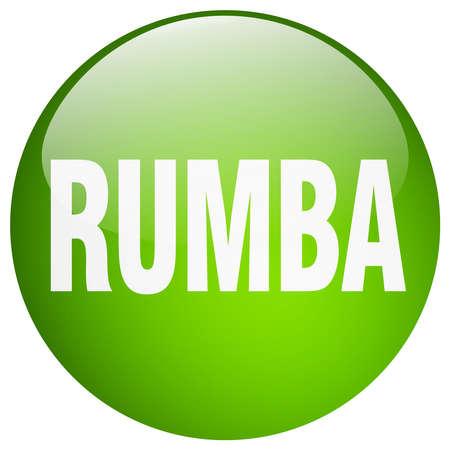 rumba: rumba green round gel isolated push button Illustration