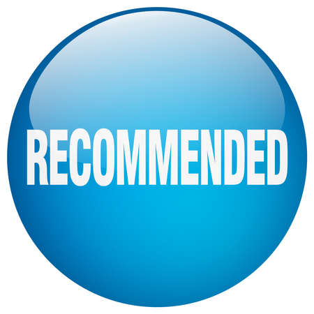 push button: recommended blue round gel isolated push button