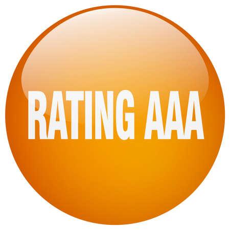 aaa: rating aaa orange round gel isolated push button