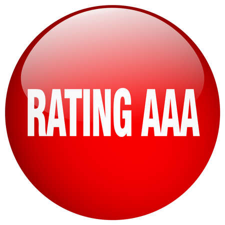 aaa: rating aaa red round gel isolated push button