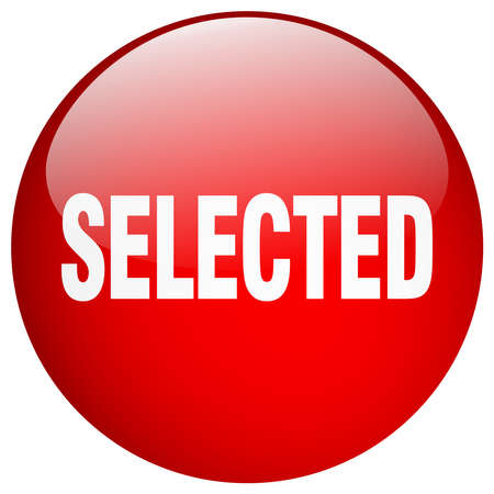 selected: selected red round gel isolated push button