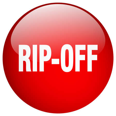 rip off: rip-off red round gel isolated push button Illustration