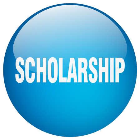 scholarship: scholarship blue round gel isolated push button