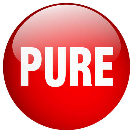 pure: pure red round gel isolated push button