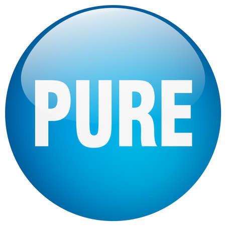 pure: pure blue round gel isolated push button Illustration