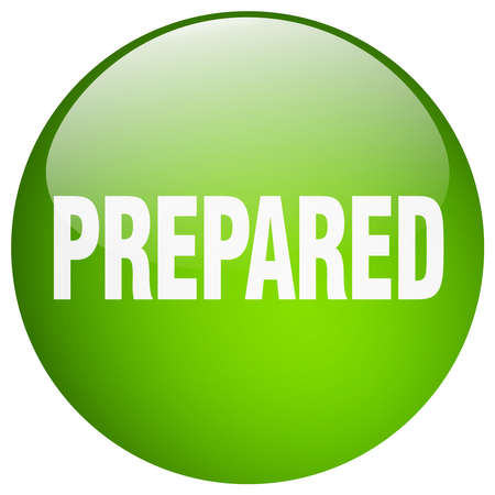 prepared: prepared green round gel isolated push button
