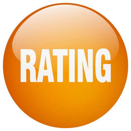 rating: rating orange round gel isolated push button Illustration