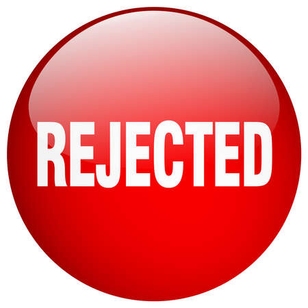 rejected: rejected red round gel isolated push button