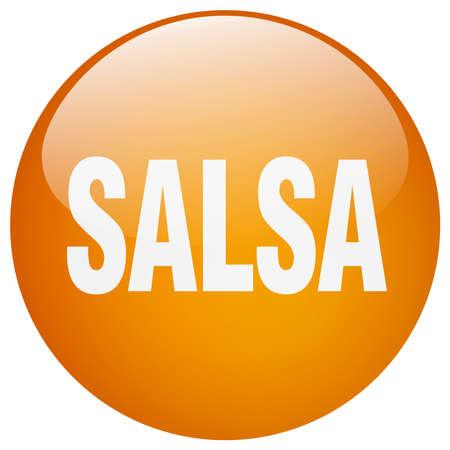 gel: salsa orange round gel isolated push button Illustration