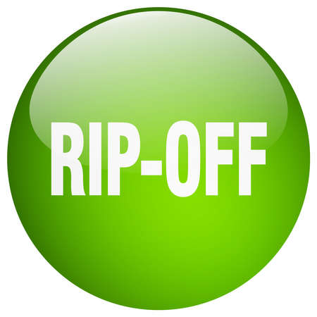rip off: rip-off green round gel isolated push button