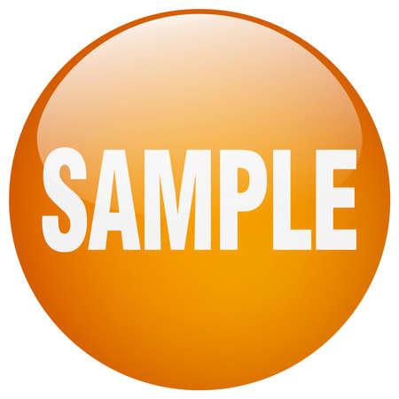 gel: sample orange round gel isolated push button Illustration