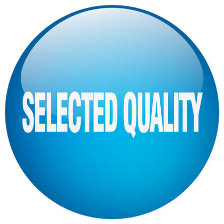 selected: selected quality blue round gel isolated push button